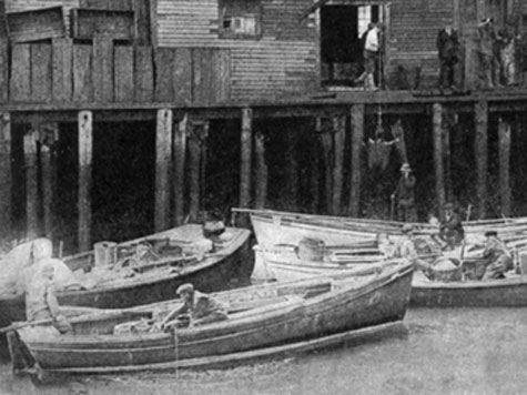 Hampton Boats in Portland, Maine, Circa 1925